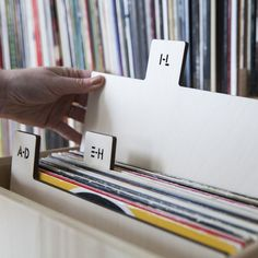 Vertical A-Z Record Dividers, Stencil - for organizing vinyl LPs $150