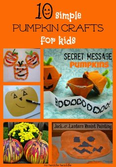 10 pumpkin crafts for kids: These pumpkin activities are simple & fun!