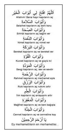This Pin was discovered by Ayç Islamic Prayer, Islamic Dua, Islamic Love Quotes, Religious Quotes, Dua For Ramadan, Learn Turkish Language, Quran Book, Coran Islam, Beautiful Prayers