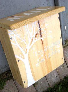 Custom Repurposed Wooden Mailbox, Wedding Mailbox. $45.00, via Etsy.