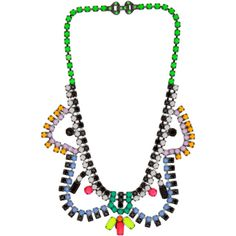 Tom Binns Dot Dash Necklace in Black Multi ($1,060) ❤ liked on Polyvore