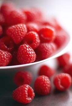 Nothing better than a fresh bowl of local raspberries!