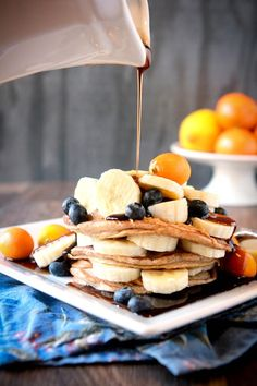 pancakes + fruit = yummm & perfect for Mother's Day brunch!