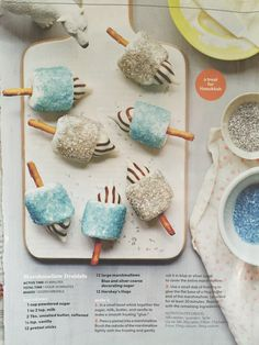 These marshmallow dreidels won't spin, but they sure do sparkle! Kids can help make this unique dessert for Hanukkah. Feliz Hanukkah, Hanukkah Crafts, Hanukkah Food, Hanukkah Decorations, Christmas Hanukkah, Happy Hanukkah, Hanukkah Recipes, Jewish Recipes, White Christmas