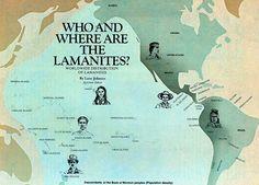 Book Of Mormon Lands | Descendants of the Book of Mormon peoples (Population density)