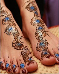 henna designs foot - Google Search