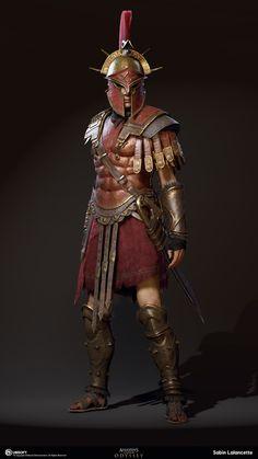 ArtStation - Alexios/Kassandra Outfit - Armor of ares , Sabin Lalancette Roman Warriors, Greek Warrior, Spartan Warrior, Armadura Medieval, Assassins Creed Odyssey, Templer, Roman Soldiers, Armor Concept, Fantasy Armor