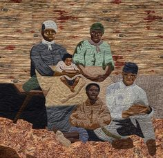"""""""Waiting For the Freedom Train,"""" an homage by quilter Marion Coleman to the underground railroad, part of a display by the African American Quilt Guild of Oakland at the San Leandro Main Library, San Leandro, CA, through Feb. 28. Credit courtesy San Leandro Library"""