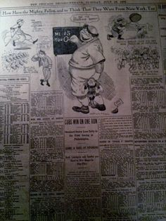 JULY-AUG 1907 NEWSPAPER PAGE #3287- TEN PAGES OF CHICAGO CUBS BASEBALL- 10PGS #ChicagoCubs