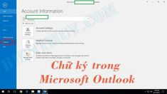 Cách tạo và thêm chữ ký trong Microsoft Outlook 2010 đến 2016 Microsoft, Accounting Information, Offices, Bar Chart, Messages, Bar Graphs, Desks, Text Posts, Office Spaces