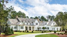 Grey Rock - C. Brandon Ingram Future House, Southern House Plans, Southern Homes, Country Homes, Small House Floor Plans, Suburban House, Architectural Design House Plans, Dream House Exterior, Farmhouse Plans