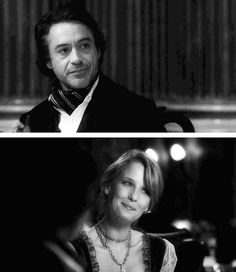 """""""I intend to.""""  (Robert Downey Jr. and Kelly Reilly as Holmes and Mary Morstan, """"Sherlock Holmes"""")"""