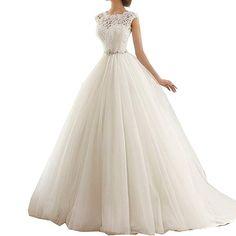 43e07e5292d Lwdress Vintage Lace Cap Sleeves Tulle Princess Wedding Dress 2016 Review