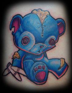 Blue Teddy Bear Tattoo Picture | Tattoobite.com