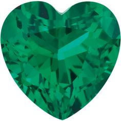 3mm Heart Faceted Chatham Created Emerald