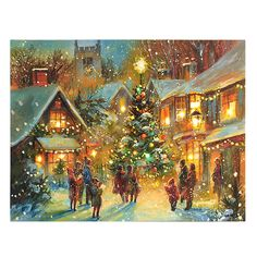 Charity Christmas Cards Xmas Gather Round The Tree Scenic Gloss Finish - Pack 5 Christmas Scenery, Old Fashioned Christmas, Magical Christmas, Christmas Past, Winter Christmas, Christmas Spectacular, Christmas Windows, Christmas Wonderland, Modern Christmas