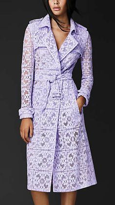 English Lace Trench Coat - Burberry