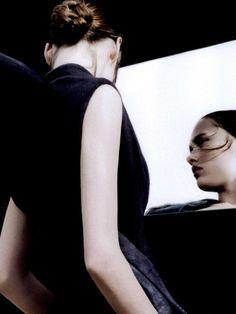 """""""Roulade Arriére"""". Karmen Pedaru by Ben Hassett for Vogue Paris September 2008"""