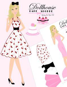 Bake Shop Paper Doll