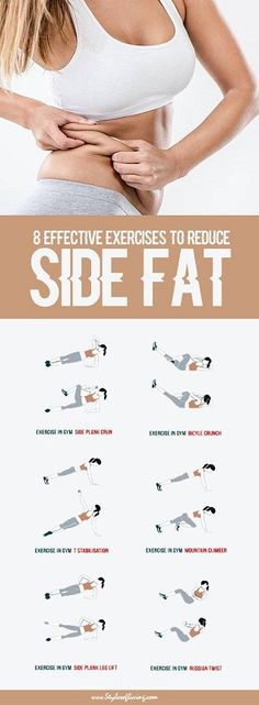 There's nothing to love about the excess fat at the sides of your waistline. The muscles underneath that layer of fat are known as your obliques. Although their function is to rotate your torso, it'll take more than torso rotations to get rid of the side fat. Reducing fat in one area of your body …