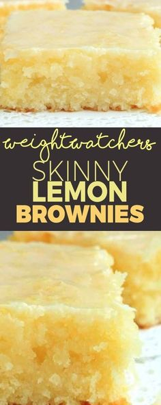 Skinny Lemon Brownies – lemon bars Recipe Skinny Lemon Brownies with only 3 Weight Watchers Smart Points Weight Watcher Desserts, Weight Watchers Meals, Weight Watchers Brownies, Weight Watchers Cupcakes, Weight Watchers Recipes With Smartpoints, Weight Watchers Cheesecake, Weight Watcher Cookies, Weigh Watchers, Dessert Ww