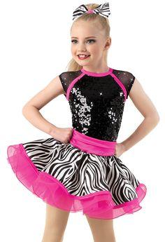 Weissman®   Zebra-Print Skirt Party Dress
