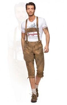 Bavarian leather trousers Vitus goatskin h-beam light brown