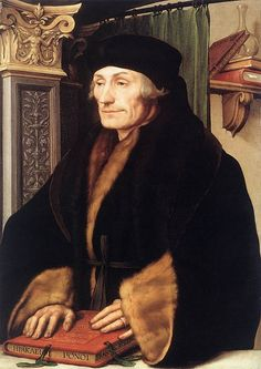 Erasmus of Rotterdam by Hans Holbein, 1523. (Private Collection)