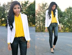 Black and Yellow (by Sharena C.) http://lookbook.nu/look/4196681-Black-and-Yellow