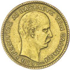 20 Drachmen 1884 Griechenland Georg I. 1863 - 1913