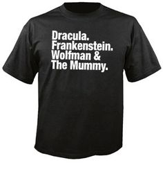 Horror Movie Legends Tribute Tshirt    Top quality screen printed t-shirts for only $11.99