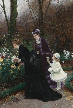 """The Godmother's Garden"" (1875) by Marie-François Firmin Girard (1838-1921)."