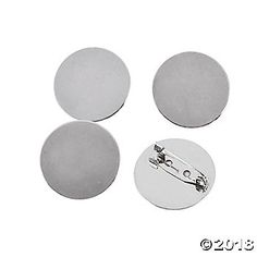 Flat Circle Pins. Create your own decorative pins! Flat Circle Pins are a great base for your projects. Make pins for social clubs, Bible studies, student ...