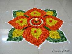 15 Best Rangoli Designs Ideas photos by bondita | HappyShappy Simple Rangoli Designs Images, Rangoli Designs Flower, Small Rangoli Design, Rangoli Designs Diwali, Diwali Rangoli, Flower Rangoli, Beautiful Rangoli Designs, Rangoli Colours, Rangoli Patterns