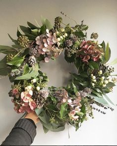 New Covent Garden Market Christmas Door Wreaths, Christmas Flowers, Autumn Wreaths, Holiday Wreaths, Christmas Decorations, Christmas Floral Designs, Dried Flower Wreaths, Wreaths And Garlands, Dried Flowers