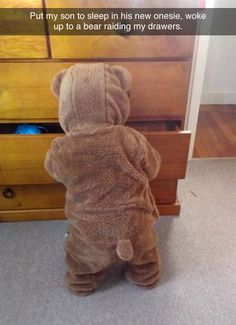 Funny pictures about A Cute Bear Broke Into Her Room. Oh, and cool pics about A Cute Bear Broke Into Her Room. Also, A Cute Bear Broke Into Her Room photos. So Cute Baby, Baby Kind, Cute Kids, Cute Babies, Boy Babies, Funny Babies, New Baby Names, Tastefully Offensive, Cute Bears