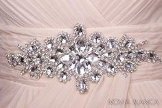 Kryształowa aplikacja do sukni ślubnej