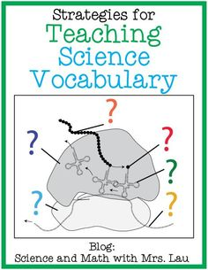 Strategies for Teaching Science Vocabulary: a Free Flash Card/Task Card Template and a Free Organelle Diagram Page Blog Post by Science and Math with Mrs. Lau