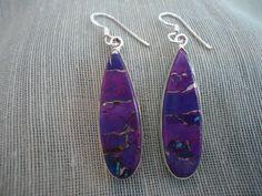 Purple Turquoise earrings
