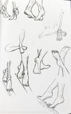 Foot shape Reference and practice. Follow me on Instagram @jon_draws_things