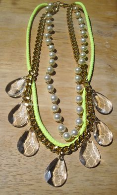 The Zoey Necklace in Neon Green by ChristinaMBoutique on Etsy, $35.00