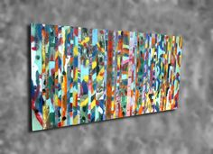 72x35 Abstract Tropical Jungle Distressed Barn Board by WoodsNart, $795.00
