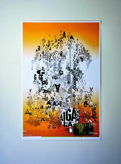 Martin Venetzky AIGA/LA Portfolio Day 2006 Poster New Leaf Opaque 100 lb Text 4/0   CMYK Trim & Kraft Wrap