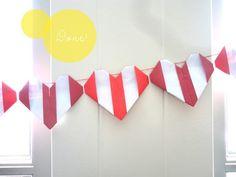 orgami heart crafts | Speculaas: diy heart origami garland | Craft Ideas