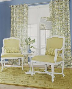 Blue and Yellow Drapes