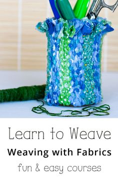 You can learn how to DIY your own loom, and weave your first project. Tapestry Weaving, Loom Weaving, Hand Weaving, Crafts To Do, Diy Craft Projects, Crafts For Kids, Craft Ideas, Crochet Supplies, Fibre And Fabric