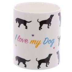 """#Hrnek z čínského porcelánu """"I Love My Dog"""" #mug #dog"""