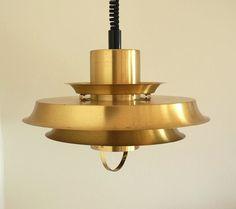 Brass pendant from the Danish company Vitrika, 1960s