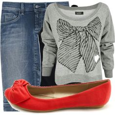 Jeans skirt outfit