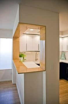 Modern Bamboo Kitchen Bar/ Pass through modern kitchen
